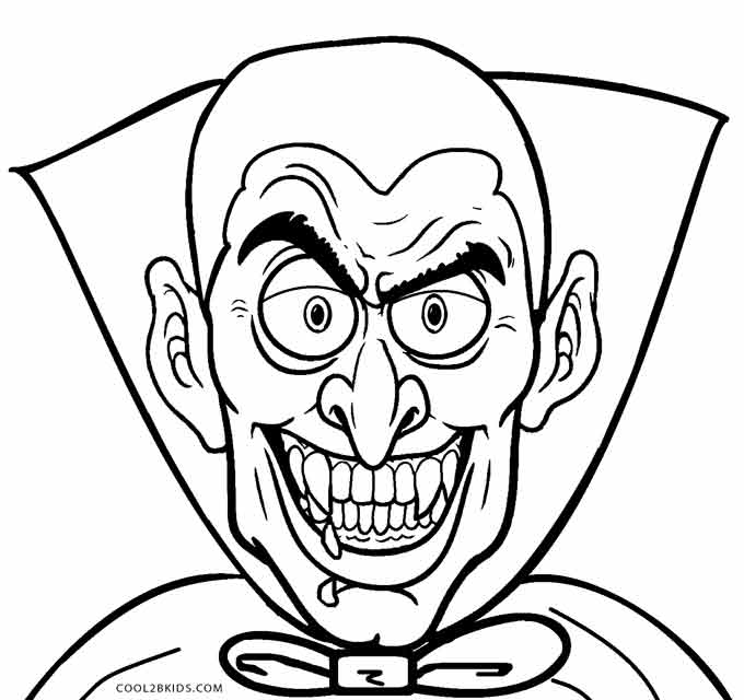 Scary Vampire Coloring Pages Scary Werewolf Coloring Pages - Free ...