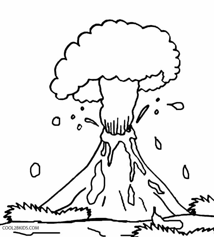 v is for volcano coloring pages - photo #26