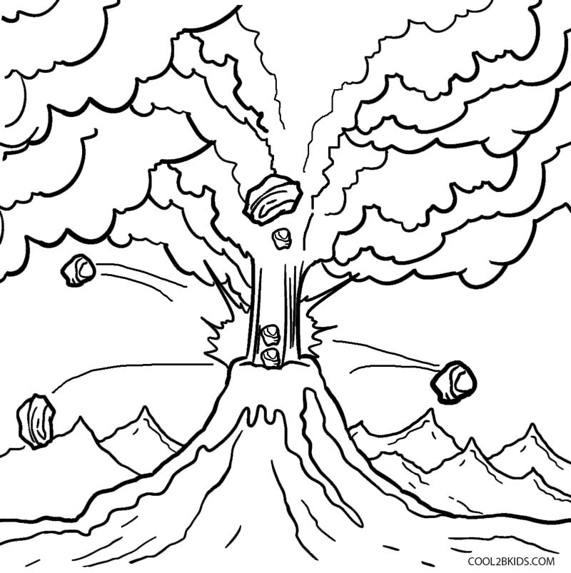 volcano printable coloring pages - photo#5