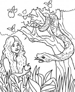 adam and eve bible coloring pages 245x300jpg