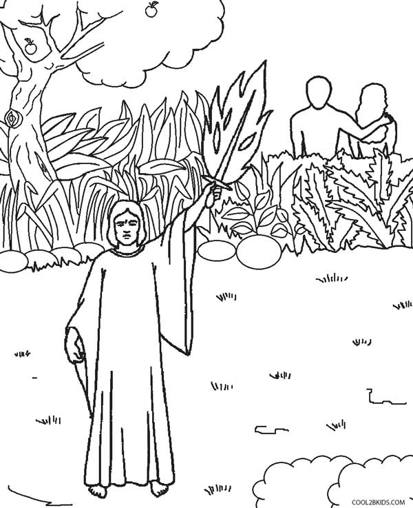 Adam and Eve out of the Garden of Eden - Old Testament Coloring Pages | 737x600