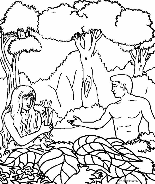 Adam And Eve Coloring Pages For Preschool