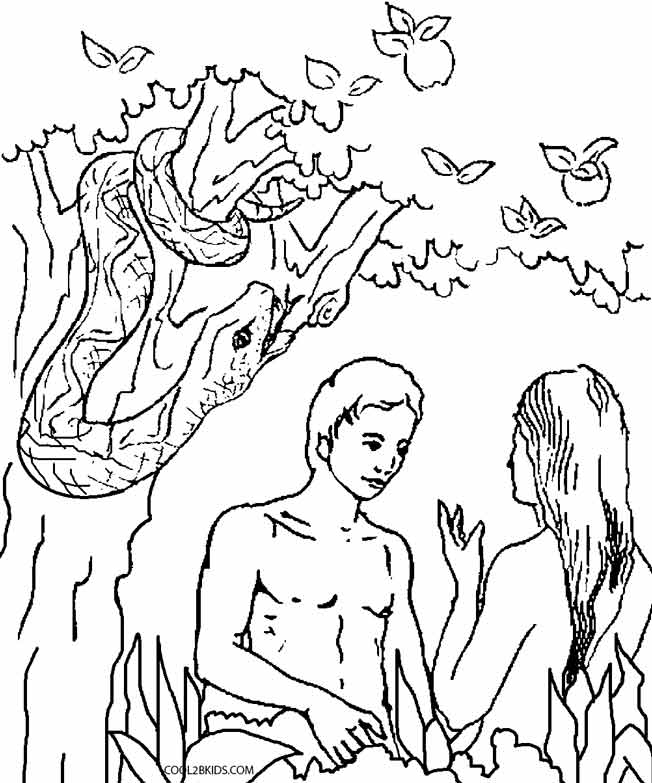 Adam And Eve Leaving The Garden Of Eden Coloring Pages