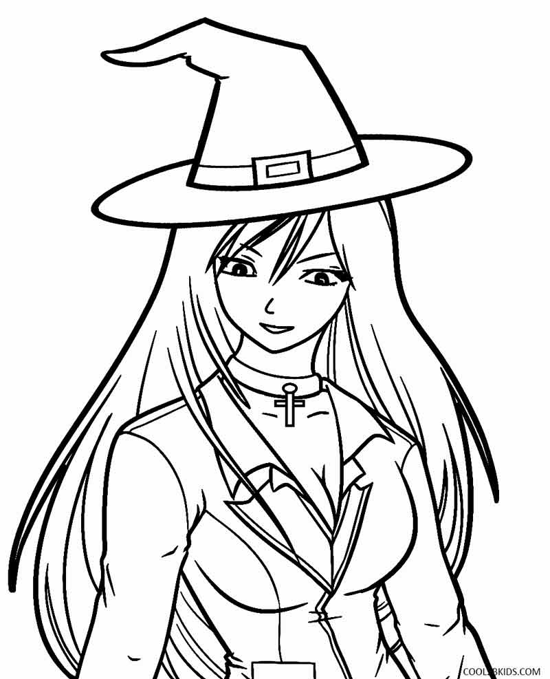 Witch Coloring Sheets