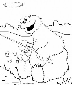 Cookie Monster Coloring Pages to Print