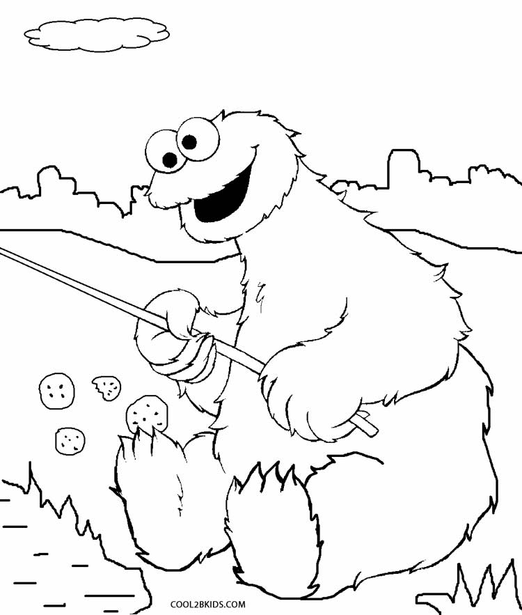coloring pages cookie monster - photo#15