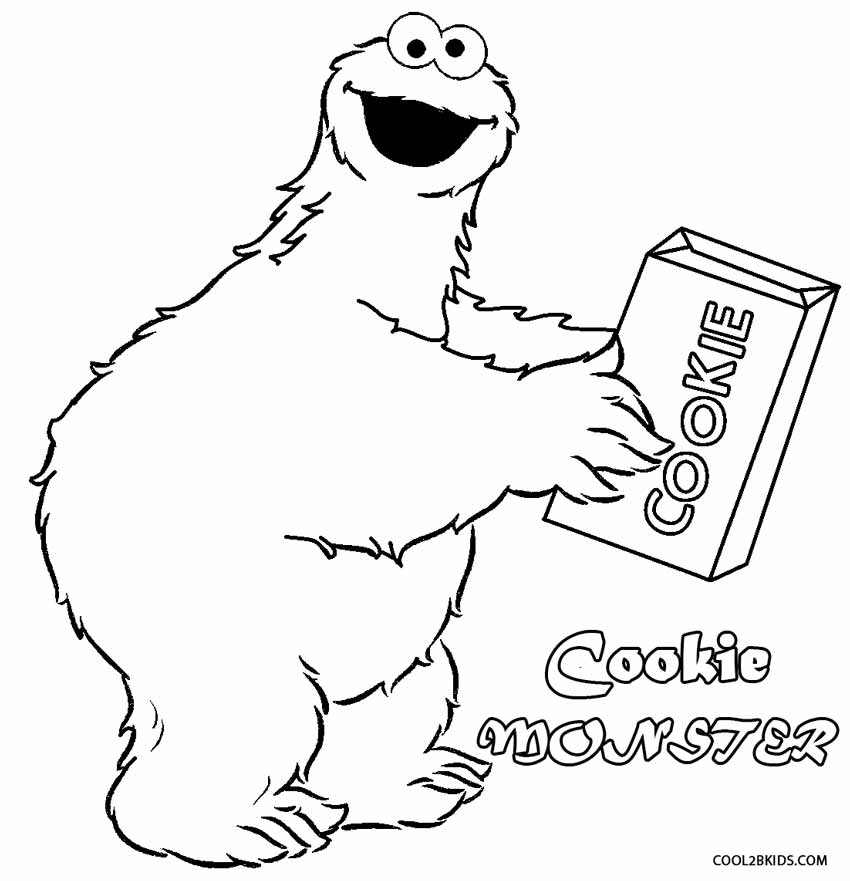cookie monster coloring pages - Cookie Monster Coloring Pages