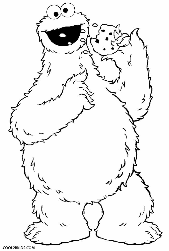 Printable Cookie Monster Coloring Pages For Kids Cool2bKids