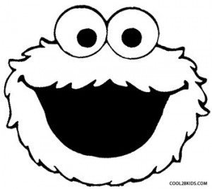 Cookie Monster Face Coloring Page