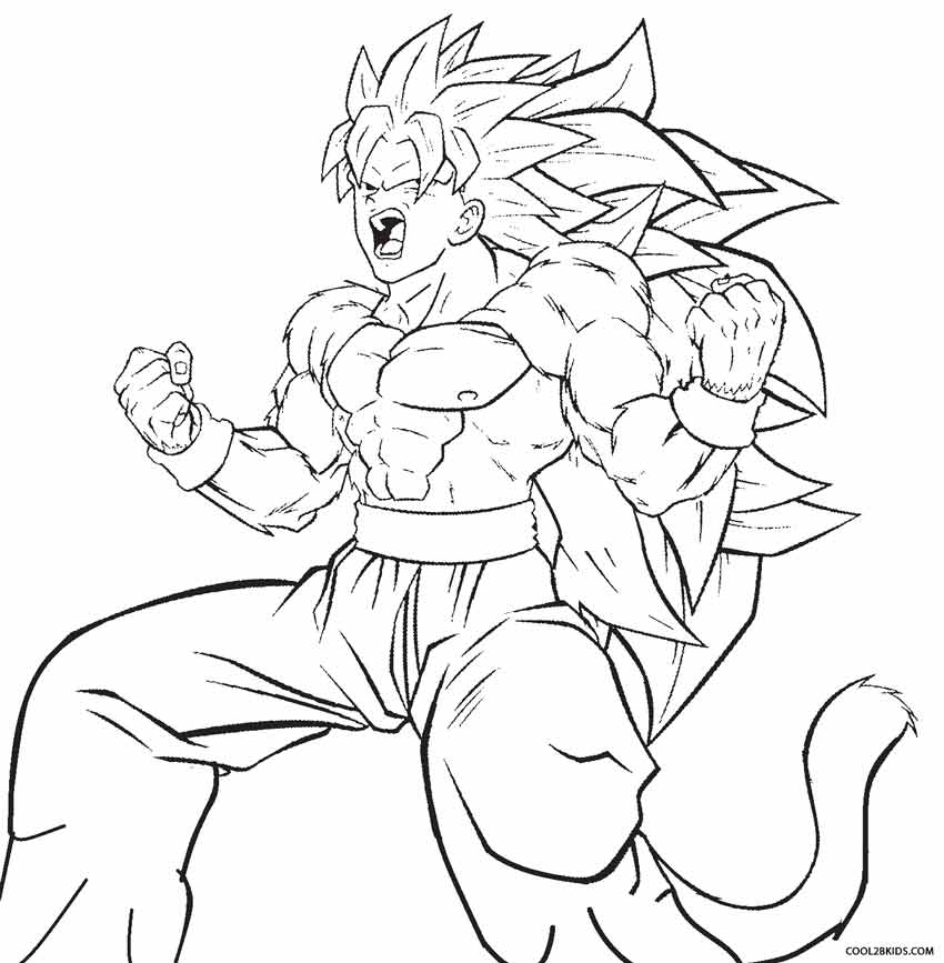 Dbz Goku Coloring Pages
