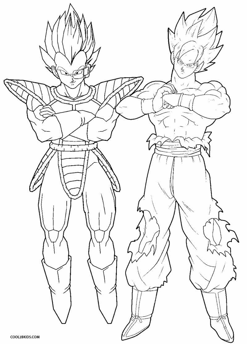 coloring pages dragonballz - photo#24