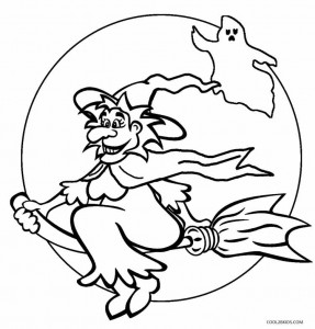 Printable Witch Coloring Pages For Kids