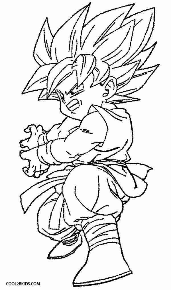 Printable goku coloring pages for kids cool2bkids for Dragon ball z goku coloring pages