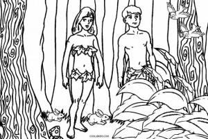 God Made Adam and Eve Coloring Pages