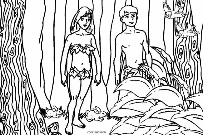Printable Adam and Eve Coloring Pages For Kids | Cool2bKids
