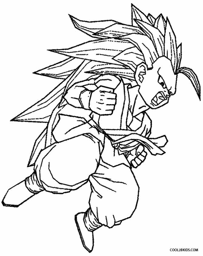 Printable Goku Coloring Pages For Kids Cool2bKids Coloringes Pictures High Resolution Dragon Ball Z