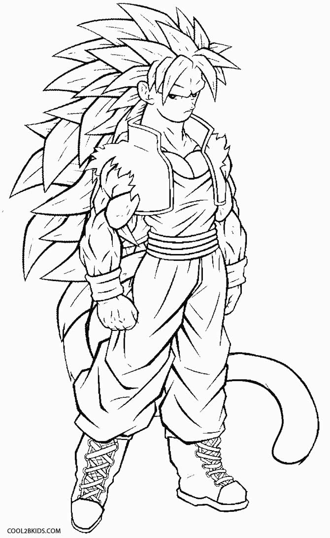 Printable Coloring Pages Of Goku