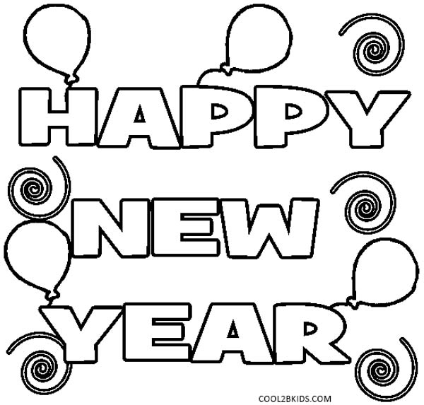 happy new year coloring page - New Years Coloring Pages