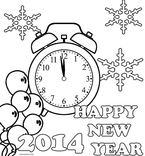 Free Coloring Pages Of Happy New Year 2015 Coloring Pages Happy New Year