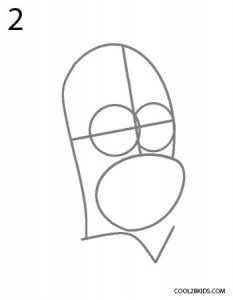 How to Draw Homer Simpson Step 2