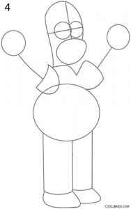 How to Draw Homer Simpson Step 4