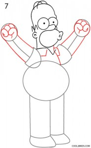 How to Draw Homer Simpson Step 7