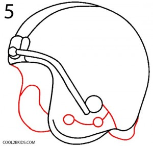 How to Draw a Football Helmet Step 5