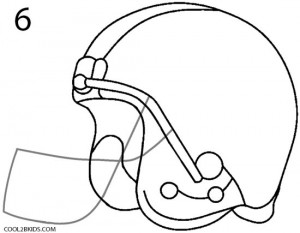 How to Draw a Football Helmet Step 6