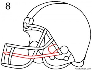 How to Draw a Football Helmet Step 8