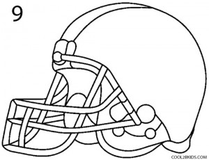 How to Draw a Football Helmet Step 9