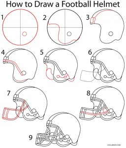 How to Draw a Football Helmet Step by Step