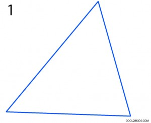 How to Draw a Pyramid Step 1
