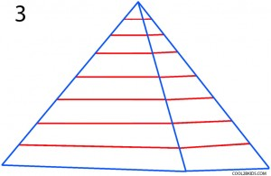 How to Draw a Pyramid Step 3