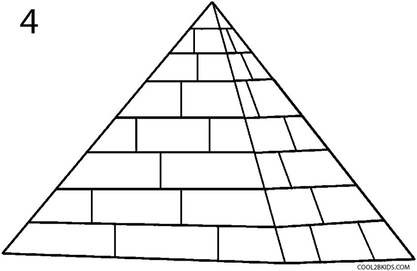 Line Drawing How To : How to draw a pyramid step by pictures cool bkids