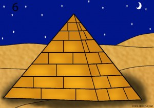 How to Draw a Pyramid Step 6