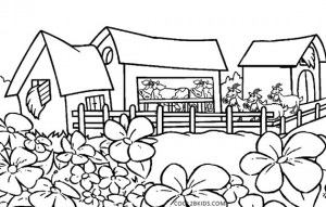 Nature Coloring Pages for Kindergarten