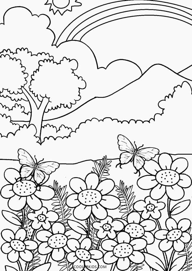printable nature coloring pages for kids cool2bkids. Black Bedroom Furniture Sets. Home Design Ideas