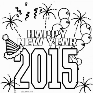 New Years Coloring Pages 2015