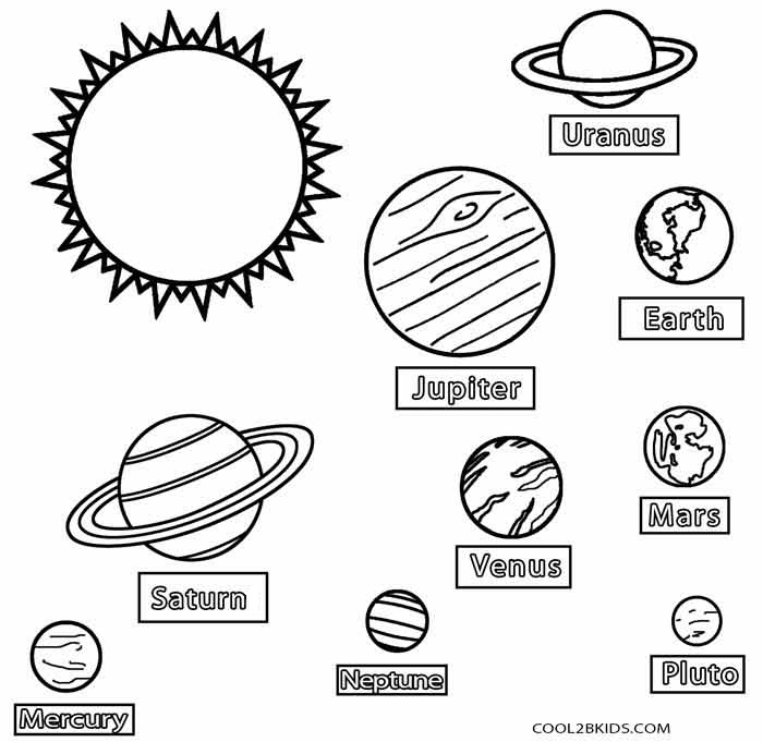Mercury Planet coloring page | Mercury planet, Planet coloring ... | 681x700