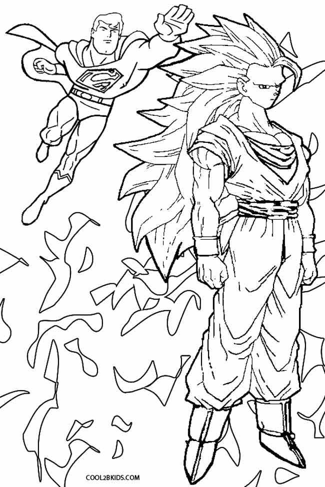 printable goku coloring pages for kids | cool2bkids - Super Saiyan Goku Coloring Pages