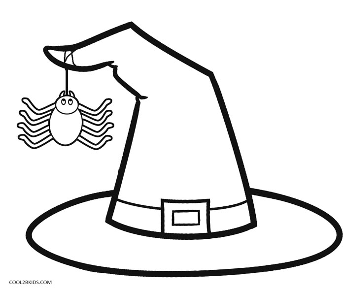 Coloring Pages Witches Hat