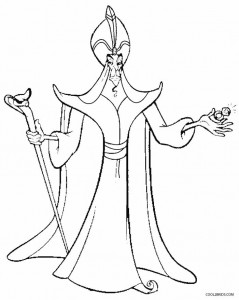 Aladdin Jafar Coloring Pages