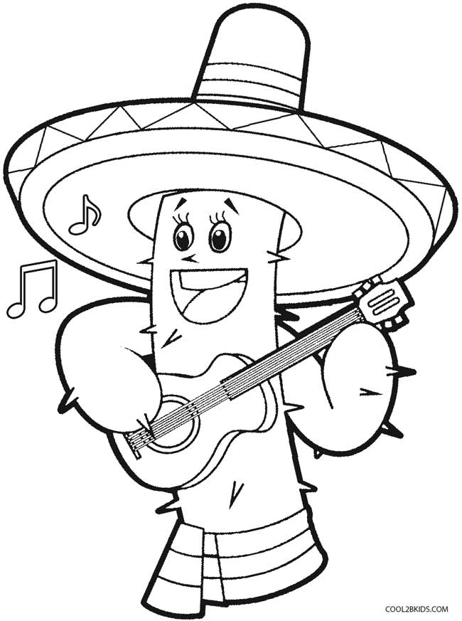cinco de mayo free coloring pages | Printable Cinco de Mayo Coloring Pages For Kids | Cool2bKids