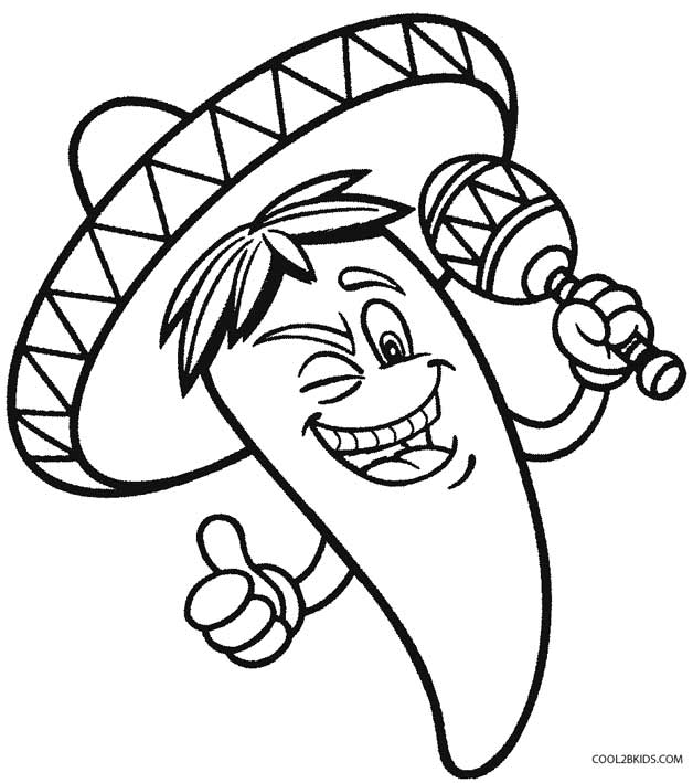 Printable Cinco de Mayo Coloring Pages For Kids | Cool2bKids