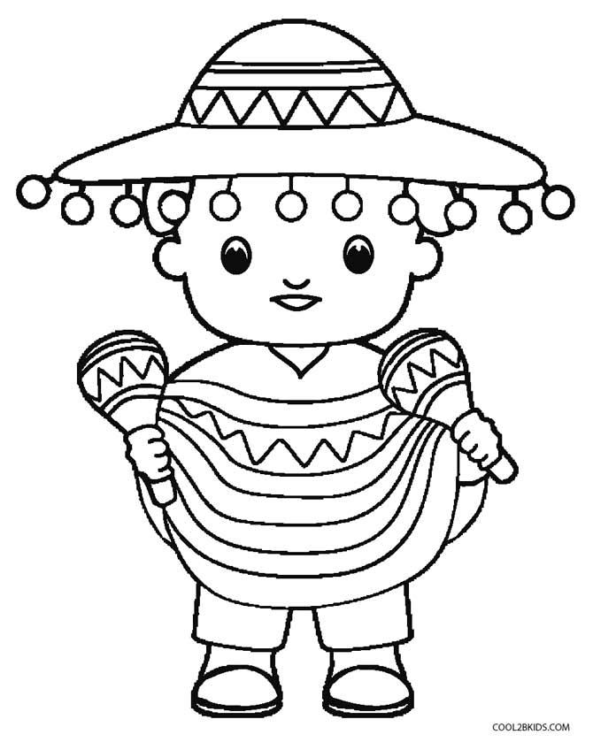 picture relating to Cinco De Mayo Coloring Pages Printable identify Printable Cinco de Mayo Coloring Web pages For Youngsters Interesting2bKids