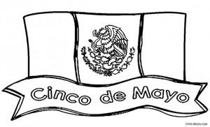 Cinco de Mayo Flag Coloring Pages