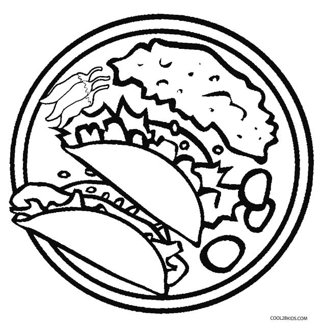 printable mexican food coloring pages - photo#6