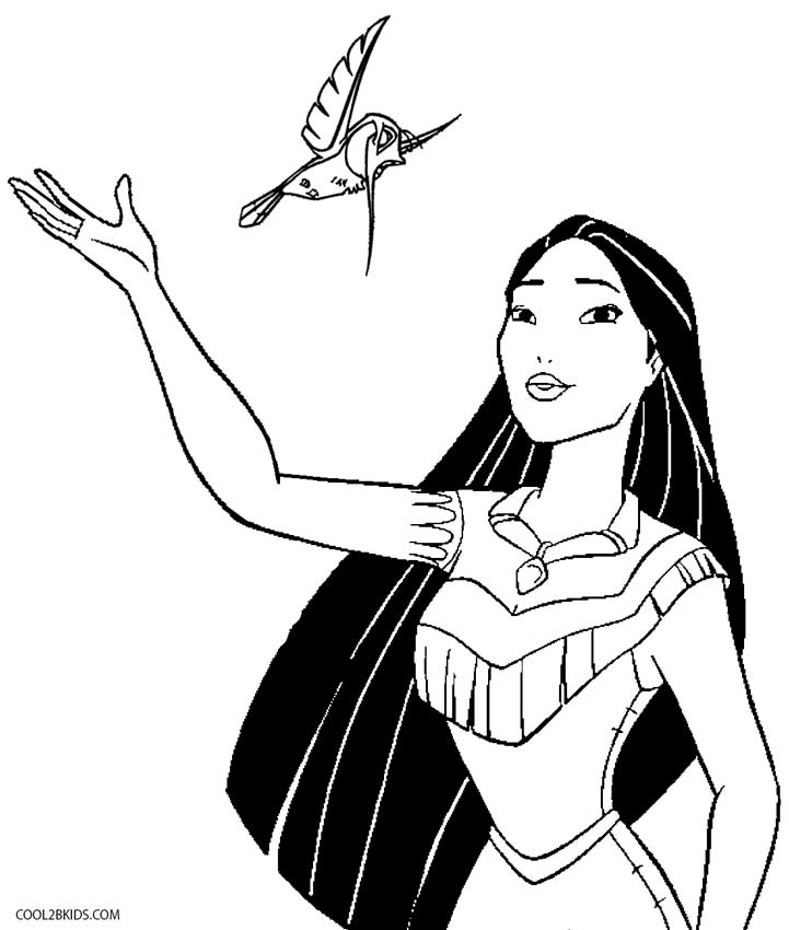 coloring pages pocahontas - photo#26