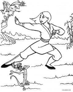 Free Printable Disney Princess Mulan Coloring Pages