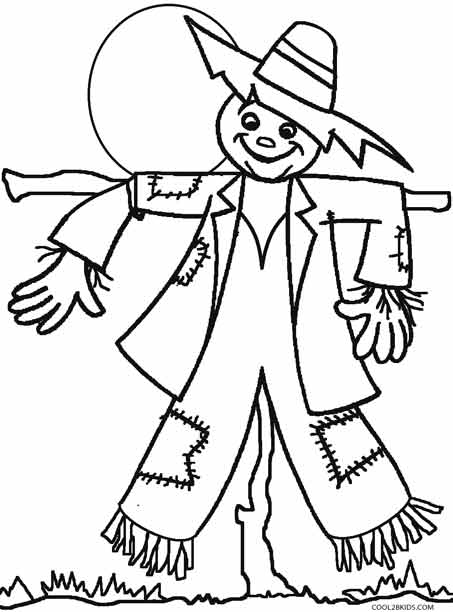 Printable Scarecrow Coloring Pages For Kids Cool2bkids Scarecrow Coloring Page